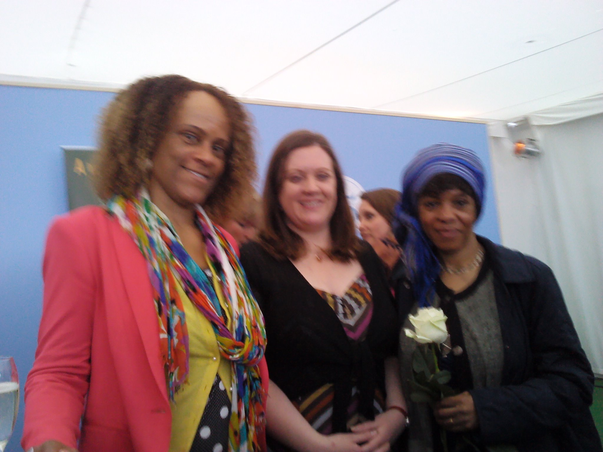 With Bernadine Evaristo And Margaret Busby